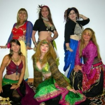 belly dancers at Arts Walk 2009